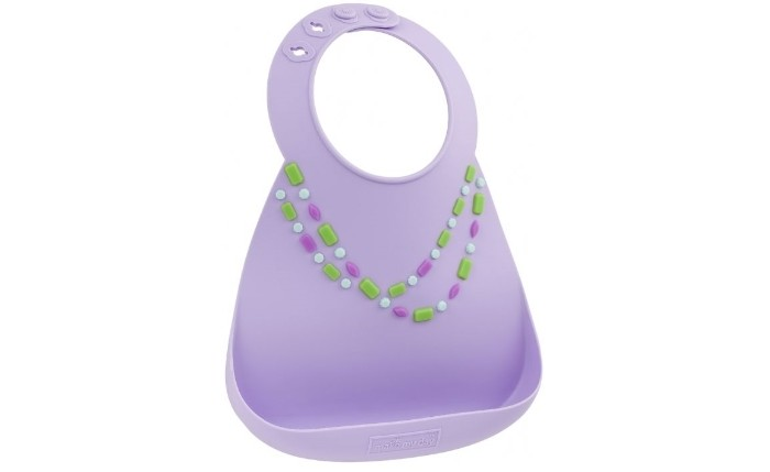 Нагрудник Make my day Baby Bib Lilac Jewels