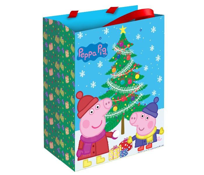 Товары для праздника Свинка Пеппа (Peppa Pig) Пакет подарочный Пеппа зимой подарочный набор посуды пеппа принцесса peppa pig