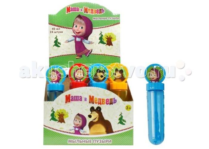Мыльные пузыри 1 Toy Мыльные пузыри Маша и Медведь колба 40 мл мыльные пузыри формула 1 60 мл