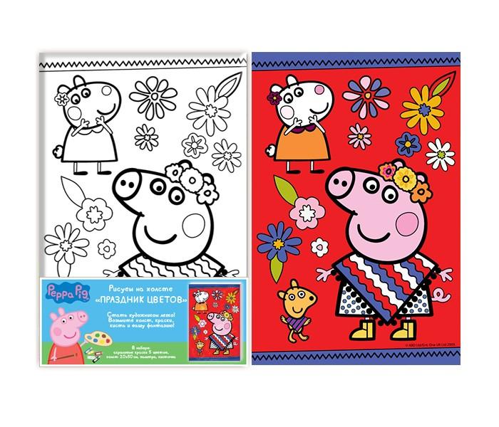 Раскраски Свинка Пеппа (Peppa Pig) Роспись по холсту Праздник цветов роспись по холсту пеппа капитан peppa pig 20х30см