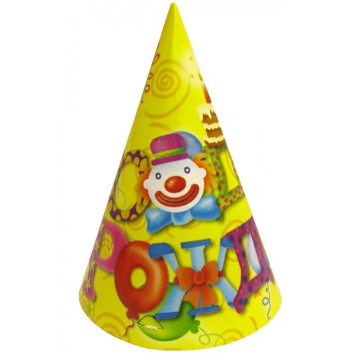Товары для праздника Поиск Набор колпаков С Днем Рождения 6 шт. disney гирлянда детская на ленте тачки с днем рождения