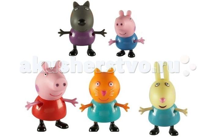 Игровые наборы Свинка Пеппа (Peppa Pig) Игровой набор Пеппа и друзья 5 фигурок игровой набор peppa pig пеппа и джордж