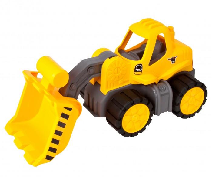 BIG Экскаватор Big-Power-Worker RadladerЭкскаватор Big-Power-Worker RadladerЭкскаватор Big-Power-Worker Radlader Для маленьких строителей появился новый любимый автомобиль: новый BIG-погрузчик с большим ковшом, вмещающим до 0,5 литров груза. Благодаря этому надежному погрузчику, будут прорыты траншея или котел в один миг. Дизайн нового погрузчика соответствует дизайну современной строительной техники. Экскаватор разработан специально для маленьких детей, поэтому детям легко будет нажимать на фронтальный погрузчик для транспортировки или наклонять ковш. У экскаватора специальные мягкие и прочные шины. Ярко желтый цвет экскаватора привлечет вашего малыша, с ним сразу захочется поиграть. Рекомендуемый возраст: от 2 лет  Размеры: 47х20х23 см<br>