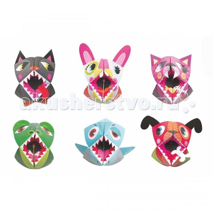 Наборы для творчества Janod Набор для творчества оригами Животные 6 карточек