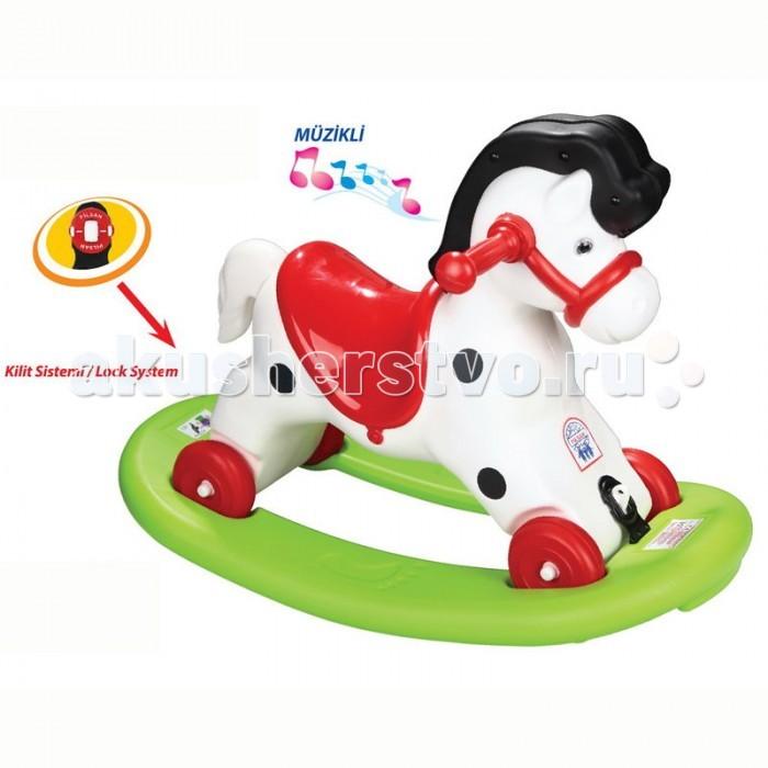 Качалки-игрушки Pilsan Лошадка каталка с черной гривой каталки pilsan качалка слон