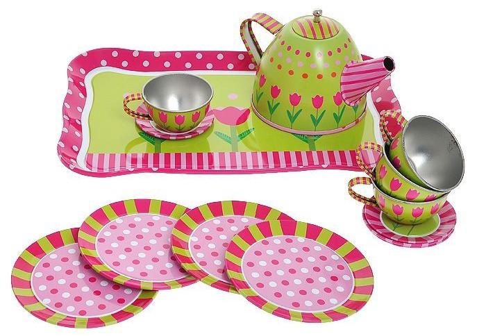 Ролевые игры 1 Toy Я сама Чайный сервиз 14 предметов игрушечная посуда 1toy игровой чайный сервиз я сама 1toy