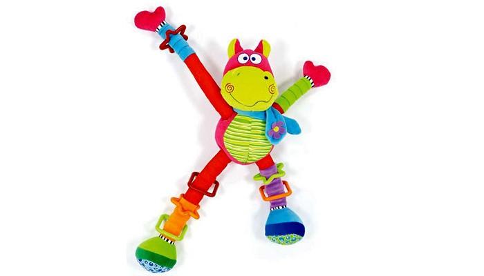 Развивающие игрушки Мир детства Бегемот-акробат игрушка подвеска акробат хрюнтик с колокольчиком