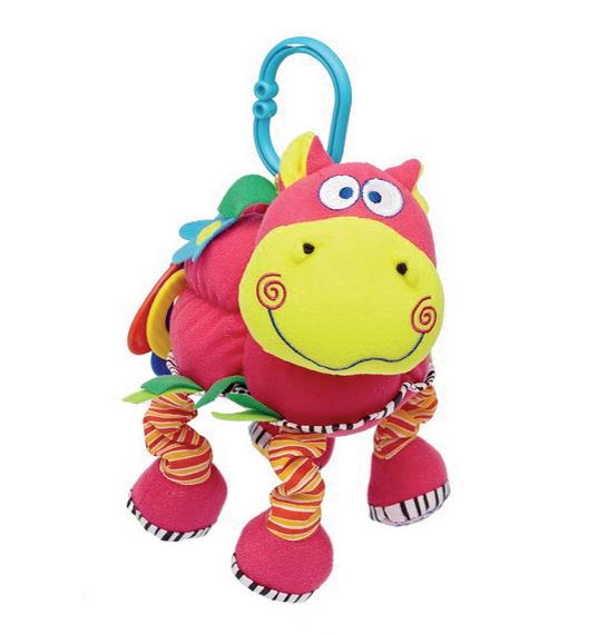 Подвесные игрушки Мир детства Веселый бегемот погремушки стеллар веселый молоточек