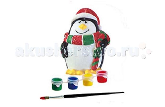Заготовки под роспись Бумбарам Копилка Пингвин