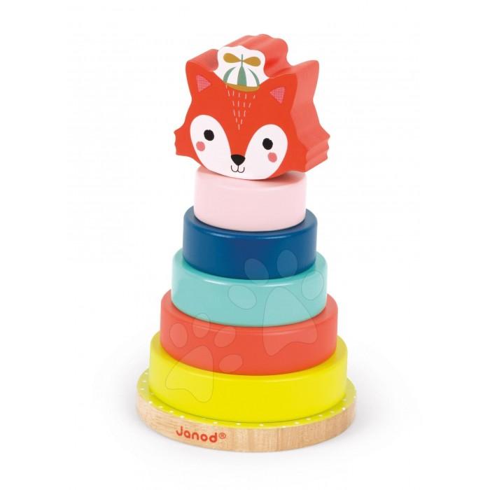 Развивающая игрушка Janod Игрушка - пирамидка ЛисичкаИгрушка - пирамидка ЛисичкаИгрушка - пирамидка Лисичка - отличный выбор для самых маленьких. Французский производитель Janod позаботился о том, что бы сделать эту игрушку максимально привлекательной и безопасной для малышей. Игрушка выполнена из цельной, натуральной экологически чистой древесины, окрашенной безвредными красками на водной основе.   Эта игрушка многофункциональна. Яркая и забавная фигурка разбираются на составные части (7 элементов) и ребенку придется приложить усилие, что бы собрать их в том же порядке. Продуманный механизм основания пирамидки позволит не беспокоится о безопасности Вашего малыша, т.к. внутри имеется специальная система, позволяющая основанию сгибаться под весом ребенка, что не сможет причинить вред малышу.<br>