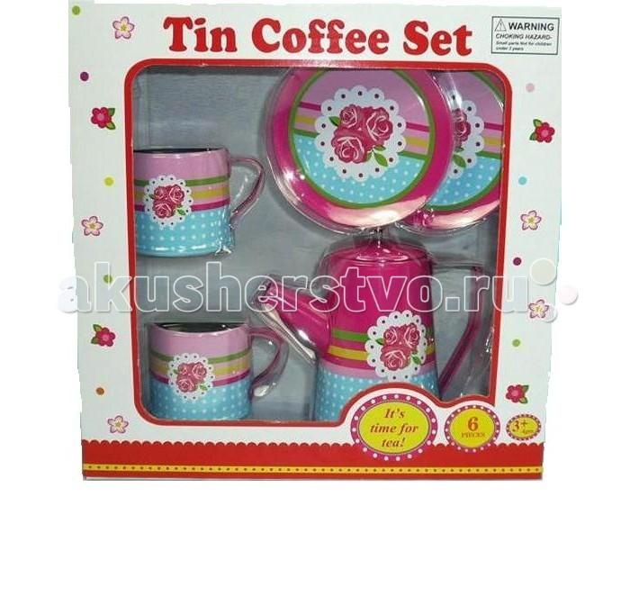 Ролевые игры 1 Toy Я сама игровой кофейный сервиз 6 предметов сервиз чайный со столовыми приборами игрушечный 1 toy я сама