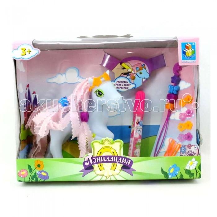 Игровые наборы 1 Toy Игровой набор Пониландия с маркерами и аксессуарами maxitoys игровой набор кухня с аксессуарами