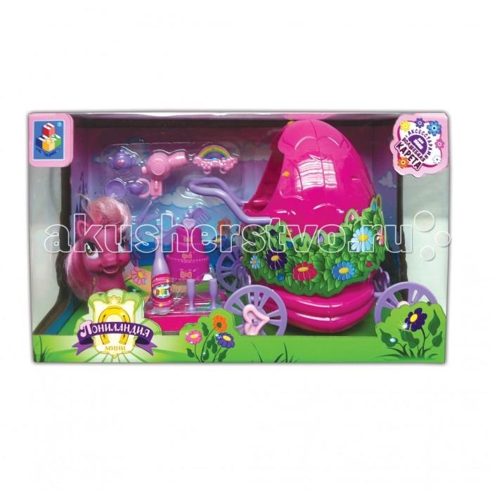 1 Toy Игровой набор Пониландия Единорог с волшебной каретой