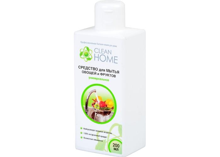 Бытовая химия Clean Home Средство для мытья овощей и фруктов универсальное 200 мл perfectly clean универсальное средство для умывания