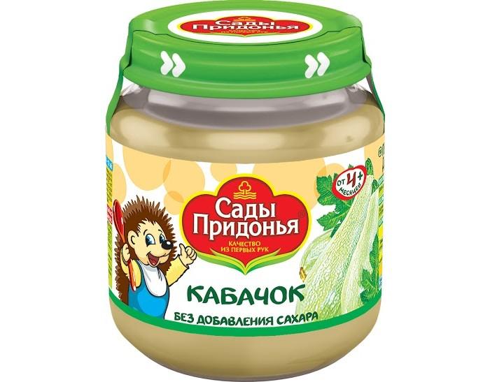 Пюре Сады Придонья Пюре Кабачок с 4 мес., 120 г пюре спелёнок кабачок с 4 мес 80 г стекло