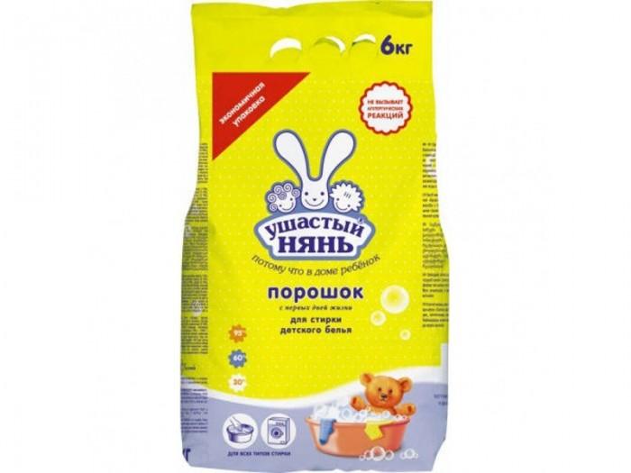 Детские моющие средства Ушастый нянь Стиральный порошок 6 кг