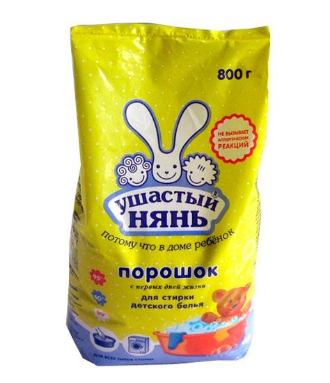 Детские моющие средства Ушастый нянь Стиральный порошок 800 г