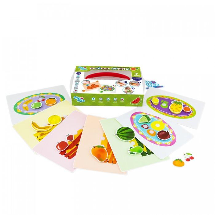 Развивающие игрушки Pic`n Mix Игра настольная развивающая Веселые фрукты pic n mix обучающая игра пазл липучка веселая ферма