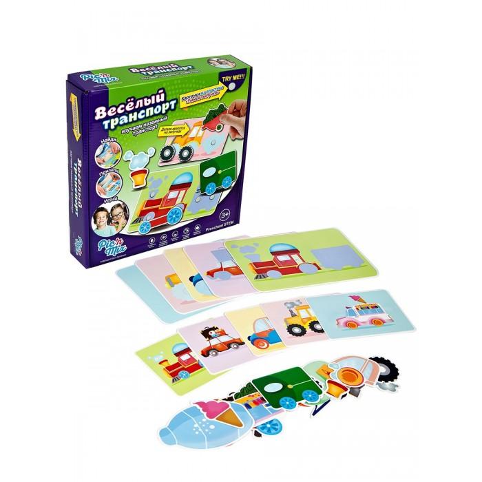 Игры для малышей Pic`n Mix Игра настольная развивающая Веселый транспорт pic n mix обучающая игра пазл липучка веселая ферма