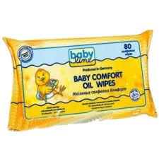 Салфетки Babyline Масляные Комфорт 80 шт. babyline влажные салфетки комфорт 80 шт babyline