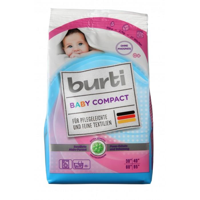 Детские моющие средства Burti Детский концентрированный стиральный порошок 900 г детские моющие средства умка стиральный порошок детский 400 г