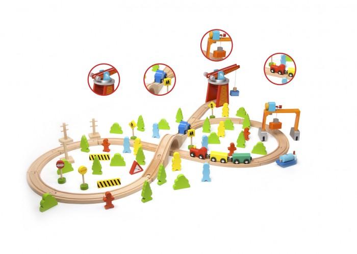 Classic World Железная дорога из дереваЖелезная дорога из дереваЖелезная дорога из дерева   Своя настоящая железная дорога у малыша в комнате!   Протяженность трасы 2,8 метра.  1. Постройте железную дорогу прямо у себя в комнате!  2. С ней можно придумывать различные игровые ситуации. 3. Такая насыщенная игра превосходно развивает воображение, координацию движений, зрительную координацию, логику, память и внимание.<br>