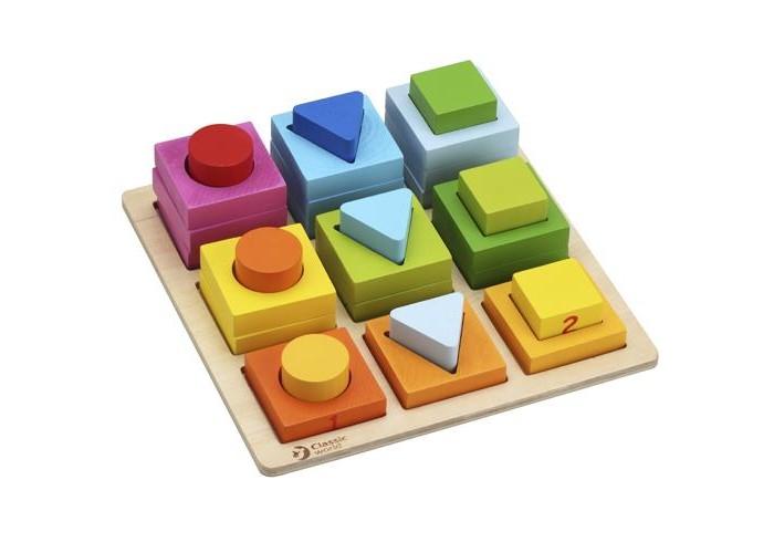 classic world из дерева создай свой собственный гараж Сортеры Classic World Геометрические блоки