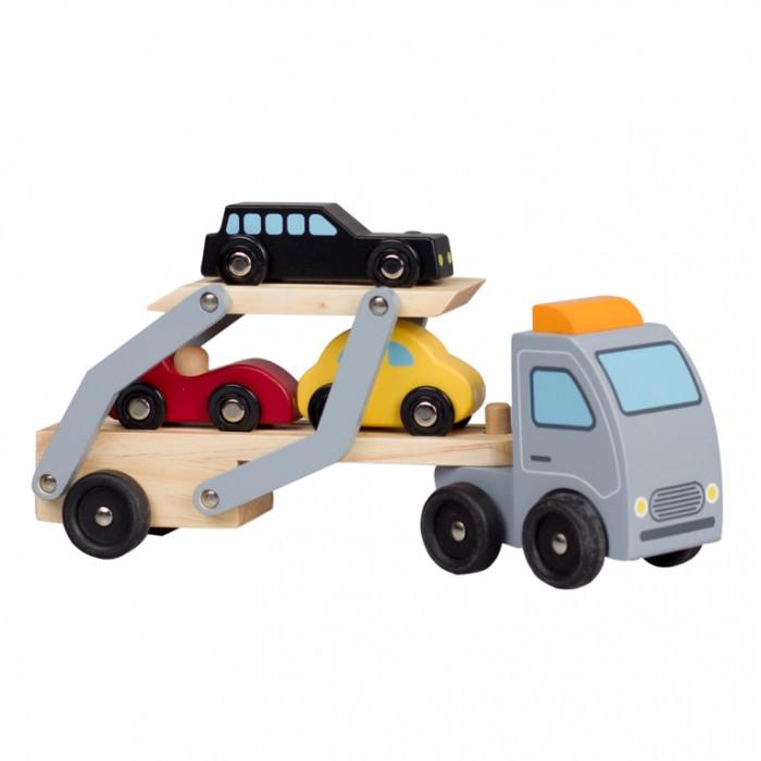 Classic World Игрушка-каталка АвтовозИгрушка-каталка АвтовозИгрушка-каталка Автовоз  с прицепом и тремя маленькими машинками в комплекте еще больше разнообразят времяпрепровождение вашего малыша.   Игрушка изготовлена из экологически чистого  дерева, что очень важно при выборе детских товаров.<br>