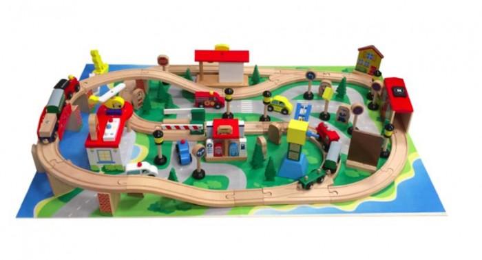 Kids4kids Конструктор деревянный Гигантская железная дорога