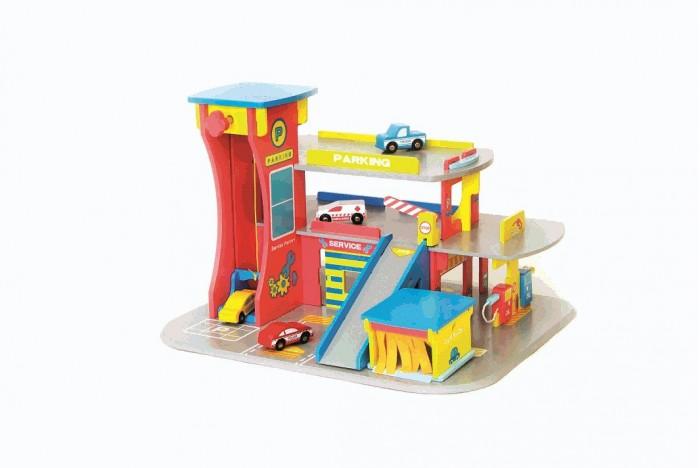 Kids4kids Конструктор деревянный Мой автоцентрКонструктор деревянный Мой автоцентрКонструктор деревянный Мой автоцентр  Все машины едут в городской автоцентр! Ведь здесь можно помыть машину, заправить бензином и даже есть многоуровневая автостоянка с собственной системой подъема!  Купив игровой набор Мой автоцентр ребенку, вы навсегда решите вопрос, куда девать многочисленные машинки.   Автостоянка высотой в три этажа располагает достаточным местом для размещения игрушечного транспорта.   По парковке можно разъезжать по специальным пандусам, а можно воспользоваться механическим лифтом, который быстро доставит машинку на нужный уровень конструкции, имеется скоростной спуск.   После того как все машинки будут заправлены, их можно помыть в автомойке.  Такая насыщенная игра превосходно развивает воображение и логику, положительно сказывается на координации движений и зрительной координации,  тренирует память и внимание.  Игрушка изготовлена из высококачественного экологически чистого МДФ, что очень важно при выборе детских товаров.<br>