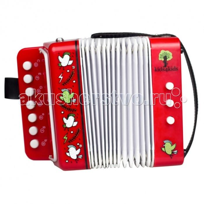 Музыкальная игрушка Kids4kids Волшебные ноты детский аккордеонВолшебные ноты детский аккордеонВолшебные ноты детский аккордеон   Красочный дизайн и мелодичное звучание для первых хитов вашего ребенка. 7 клавиш с классическим звучанием.  Учимся весело исполнять зажигательные мелодии в компании великолепного и занимательного аккордеона.   Ребёнок сможет  не только самостоятельно придумать и исполнить музыкальные композиции, а также продемонстрировать целый музыкально-танцевальный номер, ведь под фантастические музыкальные композиции просто невозможно устоять на месте, а значит будет прекрасно развито творческое мышление и координация движений.   Игра на аккордеоне способствует развитию мелкой моторики.   Яркий стиль аккордеона не оставит равнодушным ребёнка, а значит скучно точно не будет.   Игрушка изготовлена из высококачественных материалов, а значит вы будете уверены в безопасности здоровья Вашего ребёнка.<br>