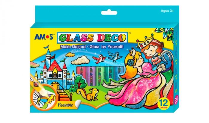 Наборы для творчества Amos Витражные краски Утенок 12 цветов 25 10 per maurizio collection юбка до колена