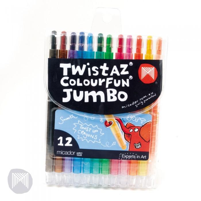 Карандаши, восковые мелки, пастель Micador Гипоаллергеные восковые мелки выкручивающиеся 12 шт. crayola мелки восковые треугольные смываемые 16 шт