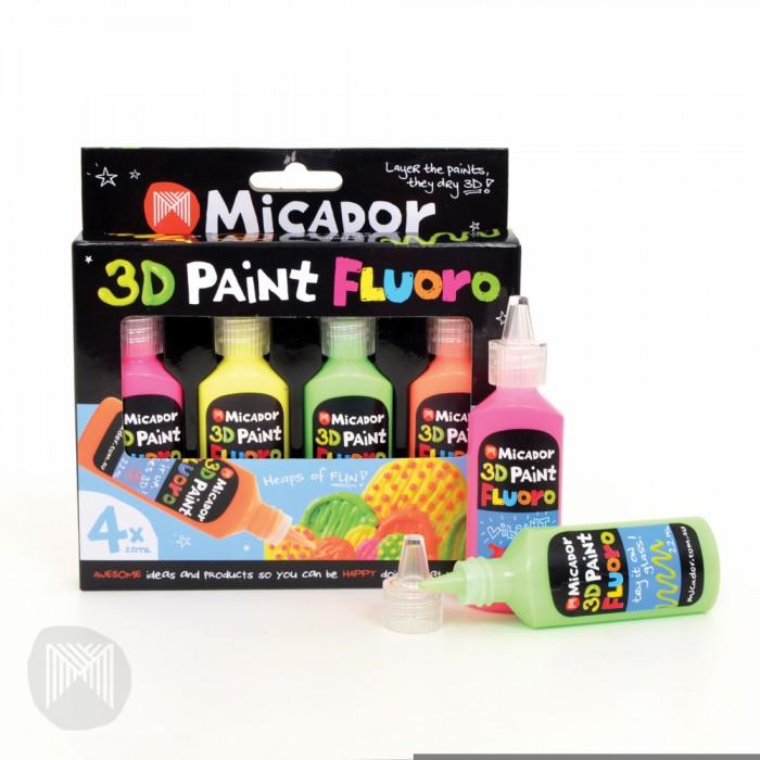 Micador Флюоресцентные 3D-краски 4 шт.