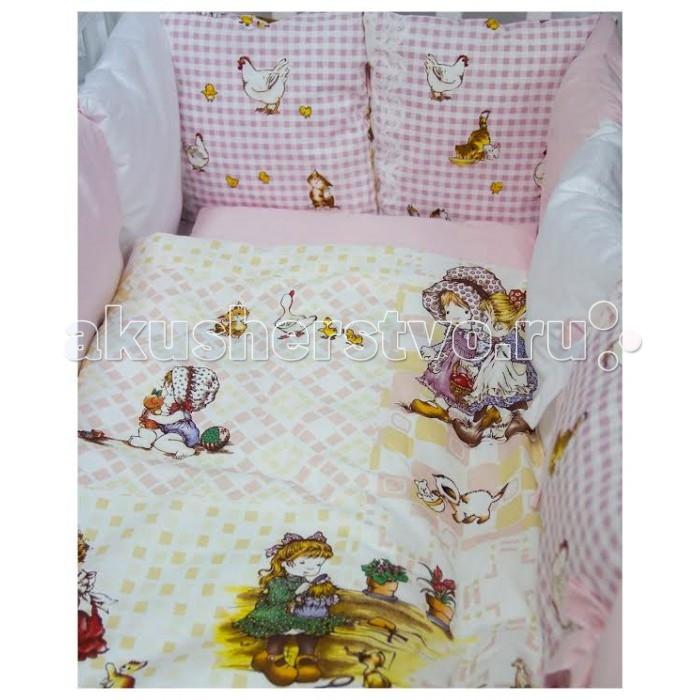 Комплект в кроватку ByTwinz Амми (6 предметов) с бортиками-подушками