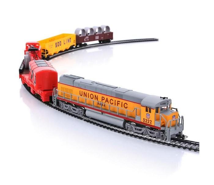 Mehano Wrecker CraneWrecker CraneЖелезная дорога «MEHANO» Wrecker Crane - миниатюрная копия экспресса Union Pacific, который существует в реальности.   Множество тщательно проработанных деталей экстерьера локомотива и вагонов придают им солидность и подчеркивают важность миссии. Являющийся частью грузового состава подъемный кран может поднимать и размещать соответствующий размерам груз на грузовую платформу.   Эта занимательная игра вписана в рамки рельсового овала, но при желании железнодорожное полотно можно увеличить, ведь все элементы железных дорог «MEHANO» совместимы друг с другом. Рельсы и колеса паровозов изготовлены из металла, Очень качественная игрушка.   Характеристики железной дороги «MEHANO» Wrecker Crane:  • масштаб 1:87;  • работает от электрической сети через адаптер – 220 вольт;  • полный привод! Ведущие обе оси. Передняя и задняя!  • горит свет при движении;  • возможность изменения скорости движения;  • размер собранного железнодорожного полотна: 117,5  см х 95,5 см;  • ширина колеи: 16,5 мм;  • размер упаковки: 64 x 38,5 x 34,5 см;  • все элементы комплекта совместимы с другими сборными моделями железной дороги «MEHANO», так что юный машинист сможет прокладывать различные маршруты, строить новые станции и придумывать неповторимый, свой собственный уникальный ландшафт.   Внимание! Вы можете сделать дорогу больше, если приобрести отдельно комплект прямых рельс. Можете сделать внутренне полукольцо, добавив в заказ 2 стрелки, комплект радиальных рельс и комплект коротких.   В комплекте:  • 1 локомотив, 4 грузовых вагона различной конфигурации, включая вагон с краном и прицепной платформой;  • 3,35 метров железнодорожного полотна  • сетевой адаптер;  • пульт-контроллер;  • подробная инструкциями по сборке и управлению (с иллюстрациями).<br>