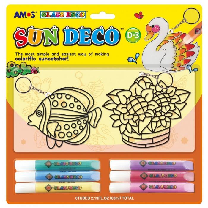 Купить Amos Набор витражных красок- 2 витража-брелка, 6 цветов кр., 10.5 мл. в интернет магазине. Цены, фото, описания, характеристики, отзывы, обзоры