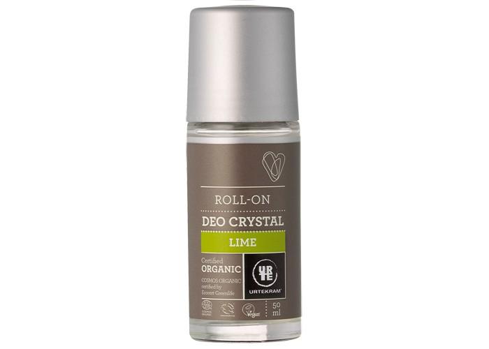 Urtekram Шариковый дезодороант-кристалл Лайм 50 мл дезодорант кристалл в бресте