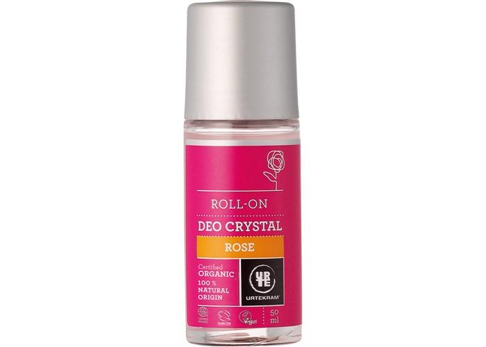 Косметика для мамы Urtekram Шариковый дезодорант-кристалл Роза 50 мл