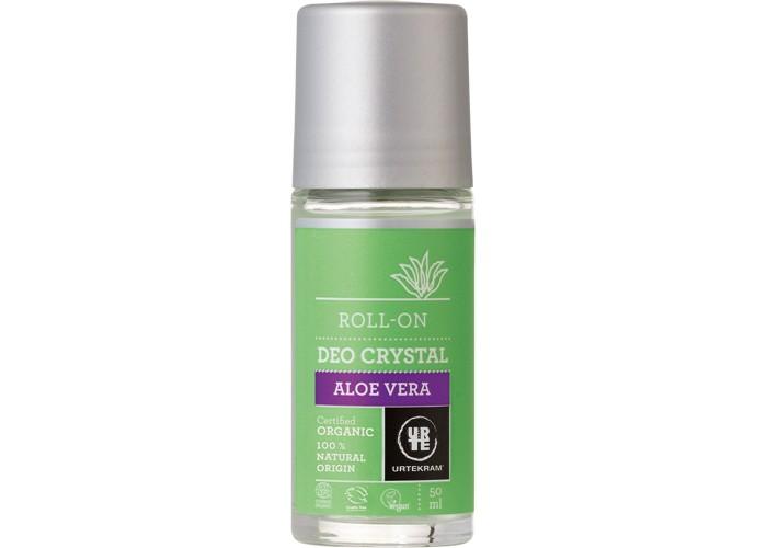 Косметика для мамы Urtekram Шариковый дезодорант-кристалл Алоэ вера 50 мл