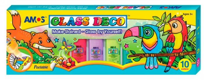 Наборы для творчества Amos Витражные краски Пароход 10 цветов витражные наклейки на окна томск