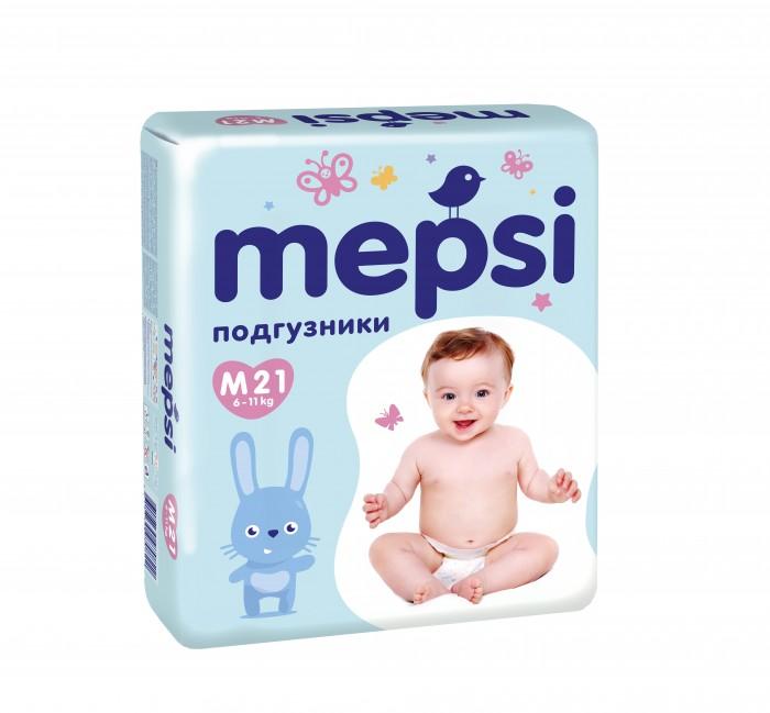 Фото Подгузники Mepsi Детские одноразовые подгузники размер M 6-11 кг 21 шт.