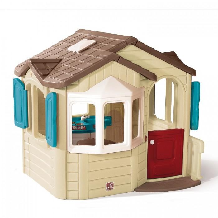 Step 2 Игровой домик Мой домИгровой домик Мой домИгровой домик Мой Дом понравится любому ребенку и подходит для самых разных игр, а благодаря своей прочной конструкции прослужит много лет.  - у домика 2 больших окна эркера, двускатная крыша с прозрачным люком, коврик у двери, перила, дверной звонок и часы; - внутри полностью оборудованная кухня с раковиной, плитой, кладовкой,стол с откидной крышкой, радио-телефон (требуется 2 батарейки типа ААА, не входят в комплект); - сочетается с другим оборудованием компании Step2; - прочная конструкция прослужит долгие годы; - продукты питания и стульчики приобретаются отдельно; - при сборке следуйте прилагаемой инструкции;- внутри полностью оборудованная кухня с раковиной, плитой, кладовкой,стол с откидной крышкой, радио-телефон (требуется 2 батарейки типа ААА, не входят в комплект).  Размеры игрового домика (высота, длина, ширина): 168 x 185 x 168 см. Размеры первой коробки (высота, длина, ширина): 163 x 171 x 38 см. Размеры второй коробки (высота, длина, ширина): 163 x 171 x 45 см. Вес: 85,3 кг. Объем: 2,3 м3.  Возраст: от 1,5 лет.<br>