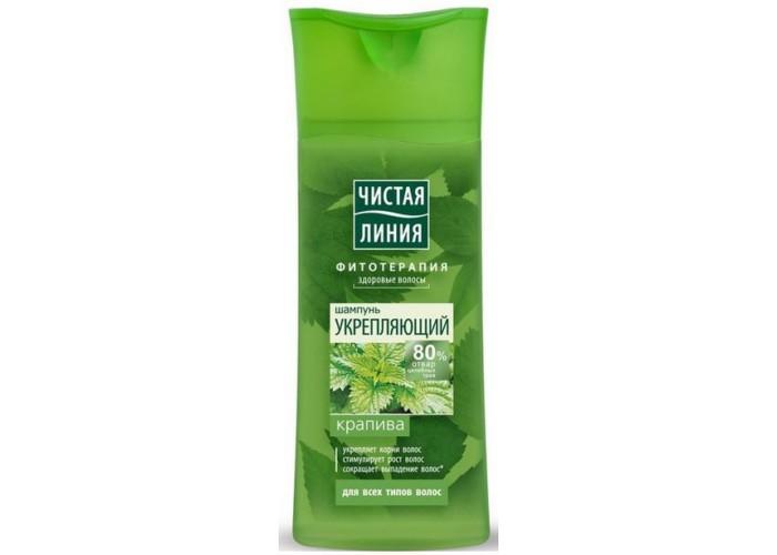 Чистая линия Шампунь для всех типов волос укрепляющий на отваре целебных трав Крапива 250 мл