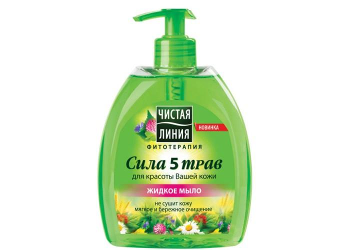 Косметика для мамы Чистая линия Жидкое мыло Сила 5 трав 520 мл organic shop мыло жидкое барбадосское алоэ 500 мл