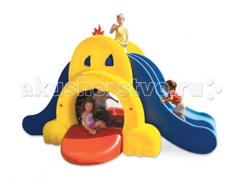 Xalingo Собака игровой комплексСобака игровой комплексИгровой комплекс Xalingo Собака станет настоящей радостью для детей, они будут проводить на во дворе с этим комплексом все своё свободное время.  Особенности: - двухуровневый комплекс; - состоит из двух лесенок для подъема и двух горок для спуска; - внизу можно сделать бассейн с шариками (сетка для бассейна и шарики входят в комплект) - легко собирается в соответствии с прилагаемой инструкцией; - прослужит много лет;  Материал: прочный пластик Размеры: 230х390х290 см<br>