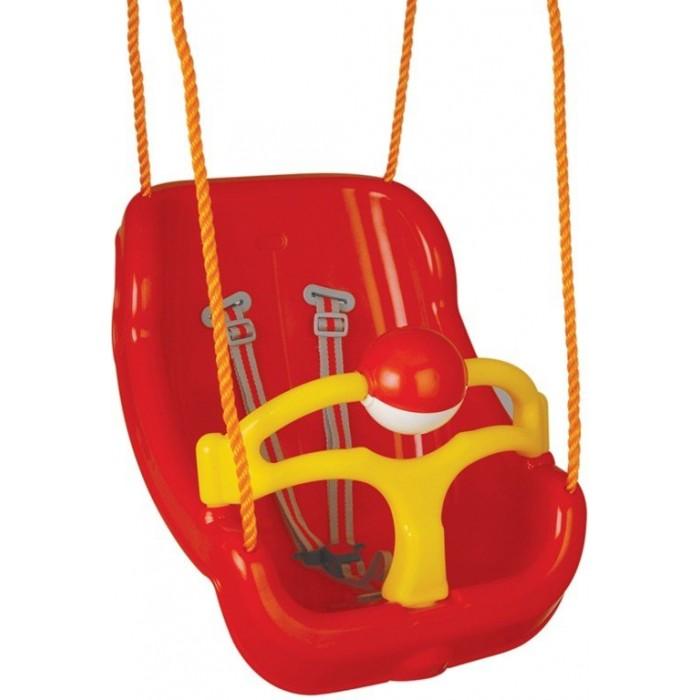 Качели Pilsan Large SwingLarge SwingPilsan Large Swing - пластиковые подвесные качели для самых маленьких детей от 1 до 3 лет с погремушкой. Pilsan - Качели подвесные Для весёлых игр во дворе. Качели полностью безопасны, ребёнок удобно закрепляется в них, амплитуда раскачивания небольшая. Подвесить к дереву или к специальной подпорке Игрушка выполнена из прочного экологически чистого пластика с соблюдением самых высоких стандартов безопасности.   Цвета в ассортименте.  Размеры: 40x51x36 см Максимальный вес: 35 кг Вес: 10,2 кг<br>