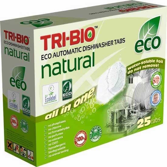 Бытовая химия Tri-Bio Натуральные Эко таблетки для посудомоечных машин 25 таб. биосредство для мытья полов tri bio 940 мл