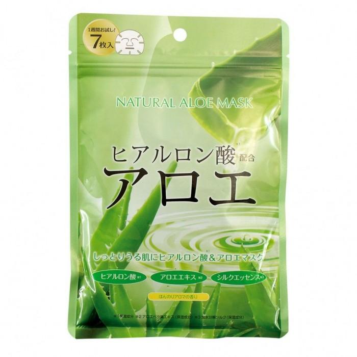 Japan Gals Маска для лица с экстрактом алоэ натуральная 7 шт. от Japan Gals