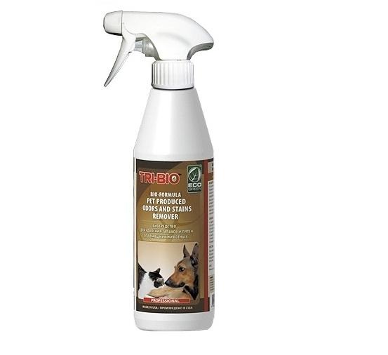Бытовая химия Tri-Bio Биосредство от запахов и пятен от домашних животных 420 мл бытовая химия tri bio биосредство для мытья полов 890 мл